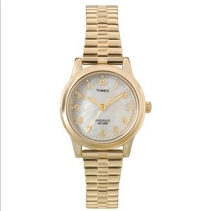 TIMEX Mother of Pearl Expansion Bracelet Watch